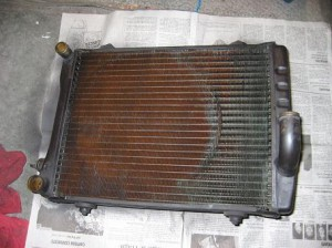 Dirty Car Radiator