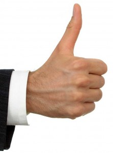 Thumbs up for Roberts