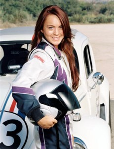 Lindsay Lohan and Herbie