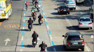 Motorcycle Lane in EDSA Philippines