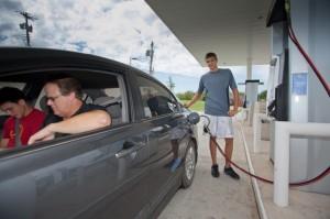 Self-Refilling Gasoline Station