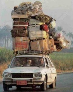 Overloaded Car