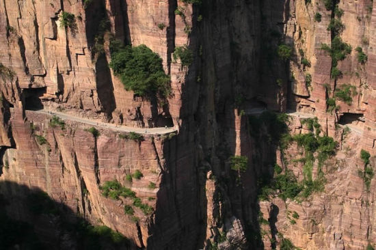 Guoliang Tunnel Road in Henan Province, China