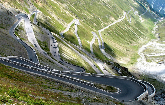 Stelvio Pass in the Eastern Alps, Italy