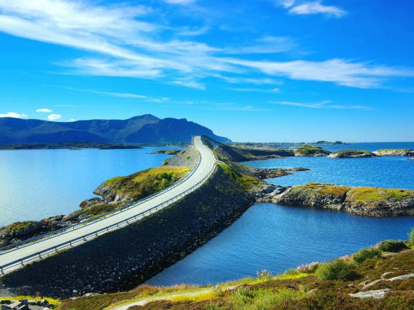 The Atlantic Road in Fjord, Norway
