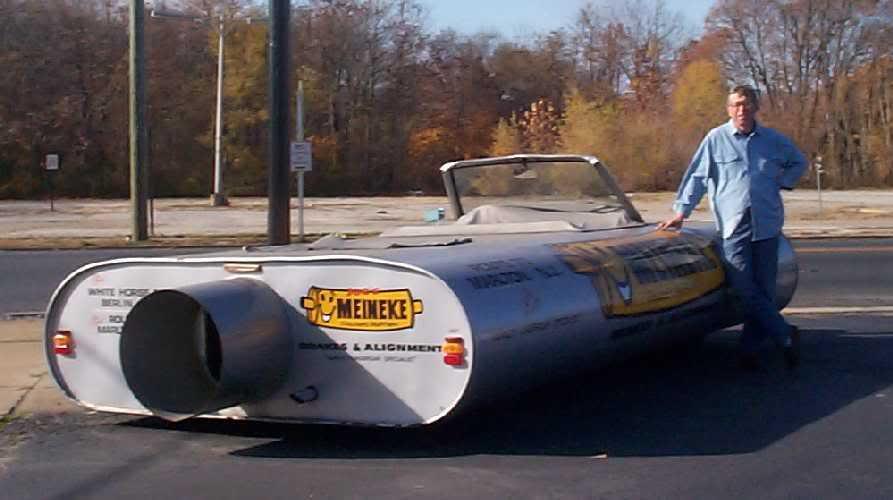 Giant Muffler Car